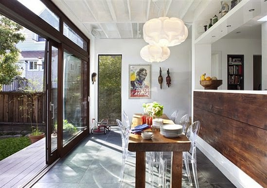 lucite chairs wood tables design fixation