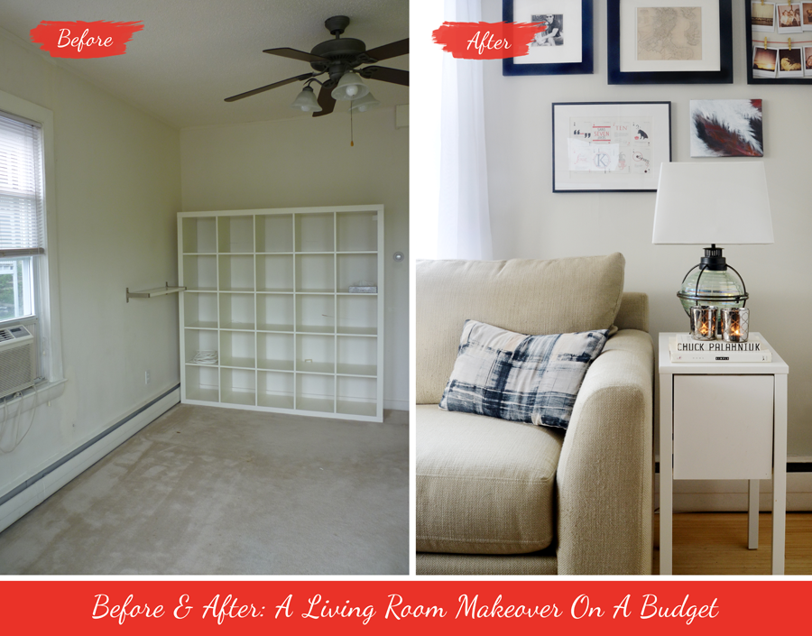 Before After A Living Room Makeover On A Budget Design Fixation