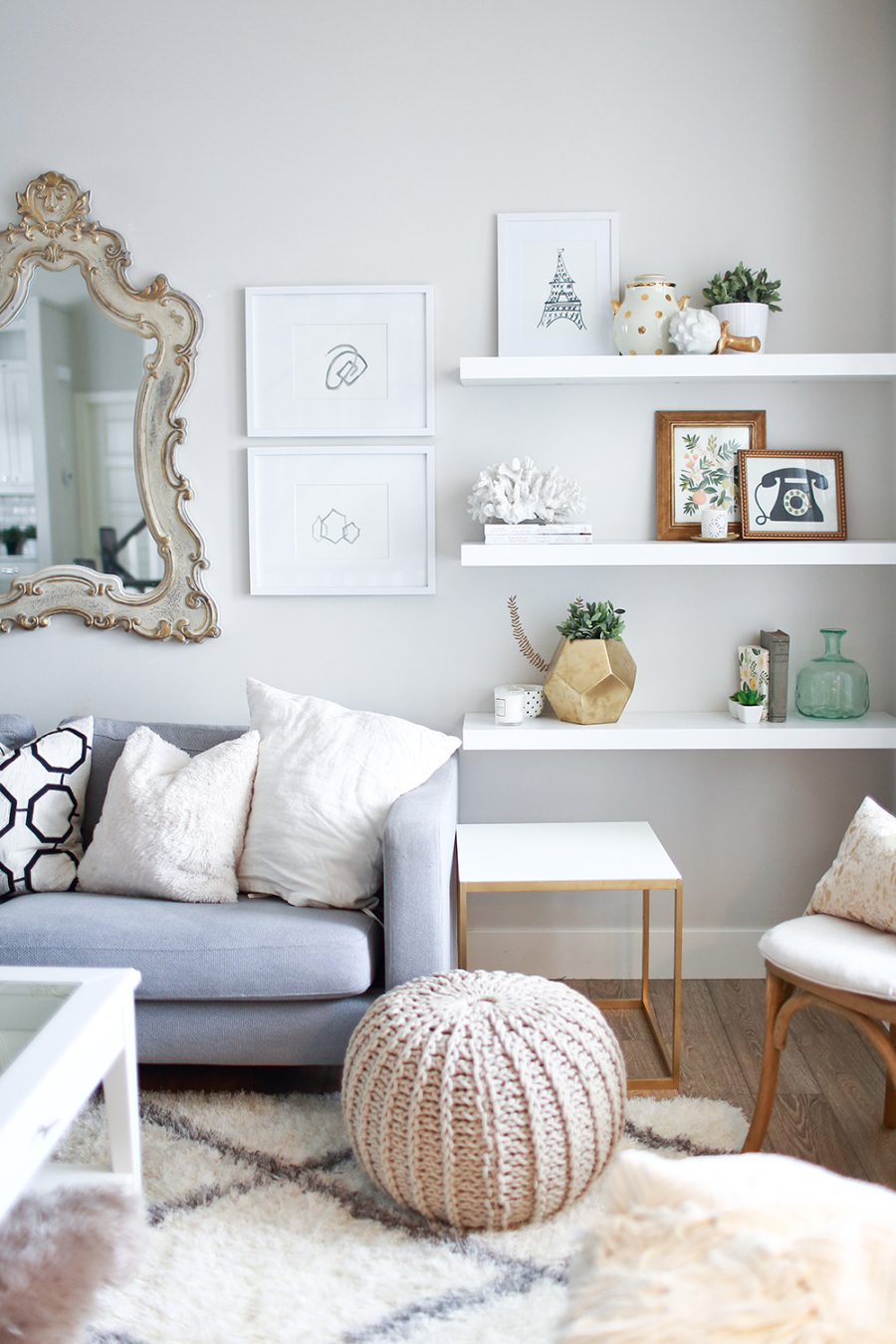 Easy Ways To Organize Your Living Room This Spring | By Design Fixation