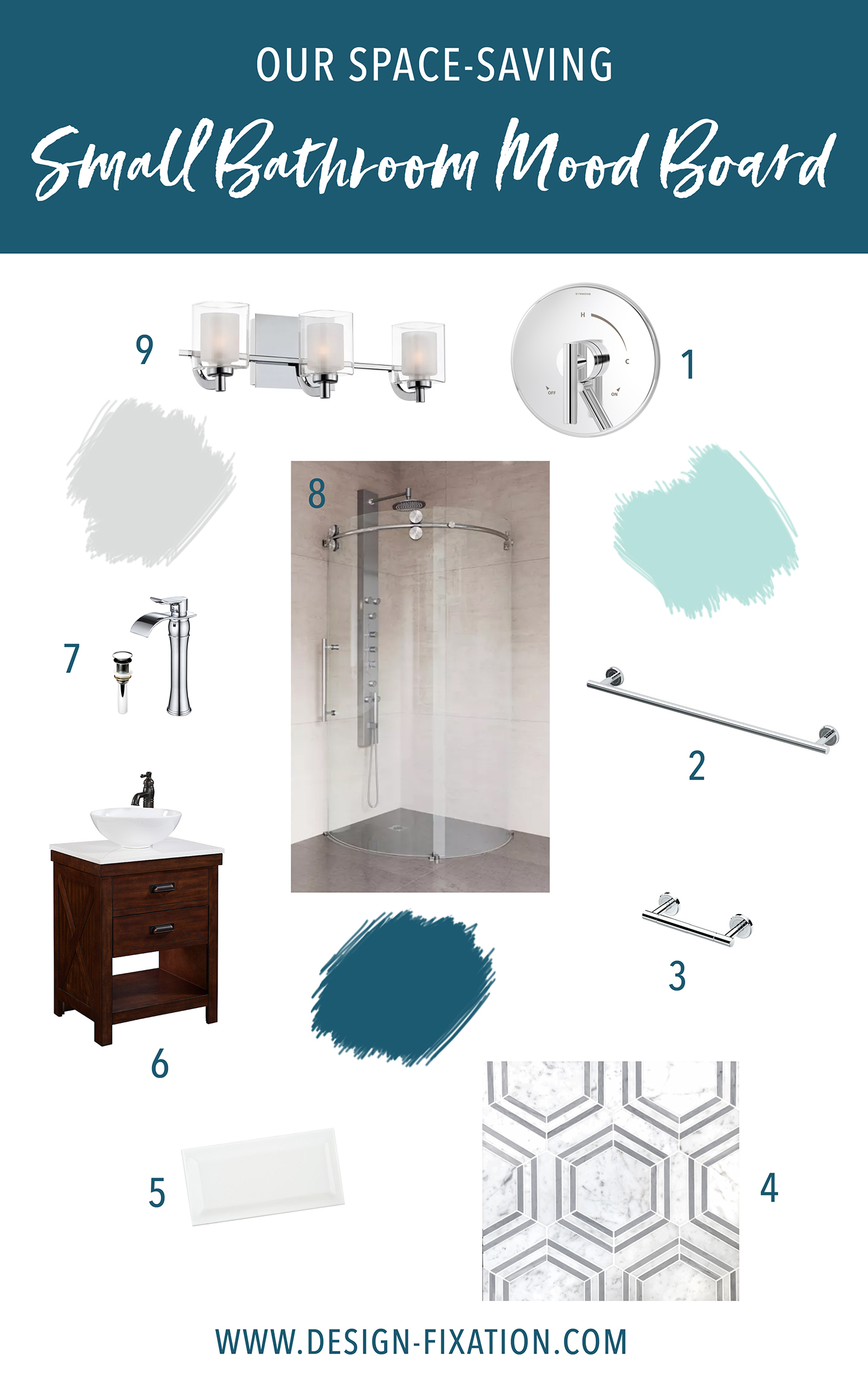 One Room Challenge: Our Space-Saving Bathroom Ideas   Design Fixation