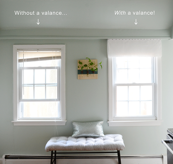 diy window valance no sew and then it dawned on meu2026 hide them with diy valances so another project was born heres the comparison easy nosew window valance design fixation
