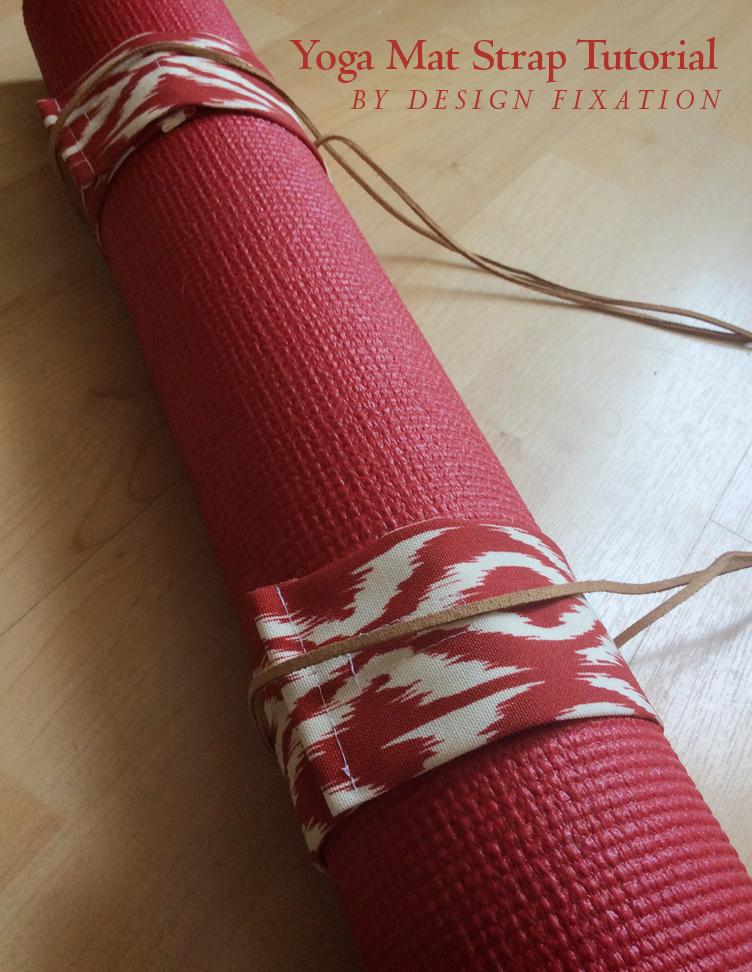 Yoga mat strap wrap | sew4home.