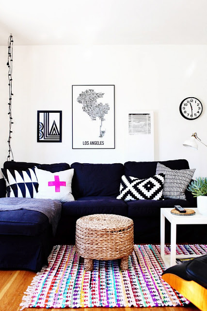 Navy Blue Purple Home Decor Inspiration Design Fixation