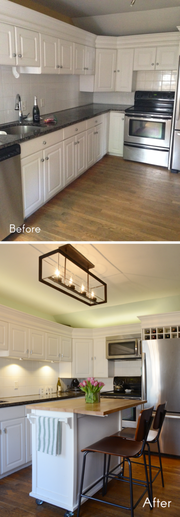 astounding kitchen lighting before after | Before & After /// New Kitchen Lighting For The Win ...