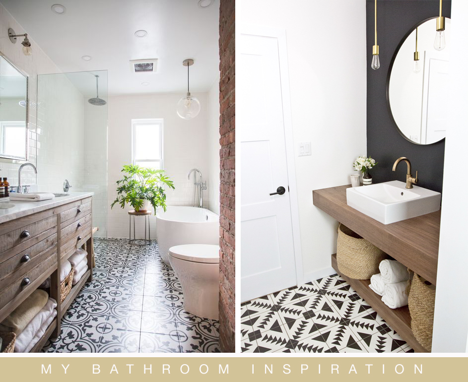 Patterned Floor Tiles With Subtle