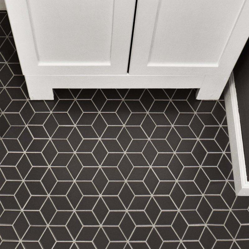 Patterned Floor Tiles With Subtle