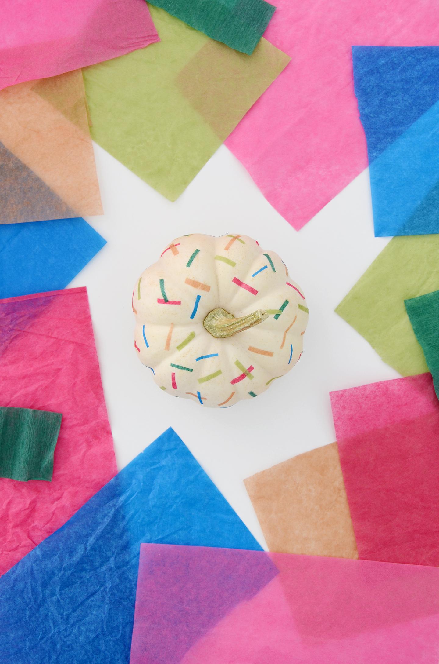 Trendy Pumpkins Challenge Diy Rainbow Confetti Pumpkin Design