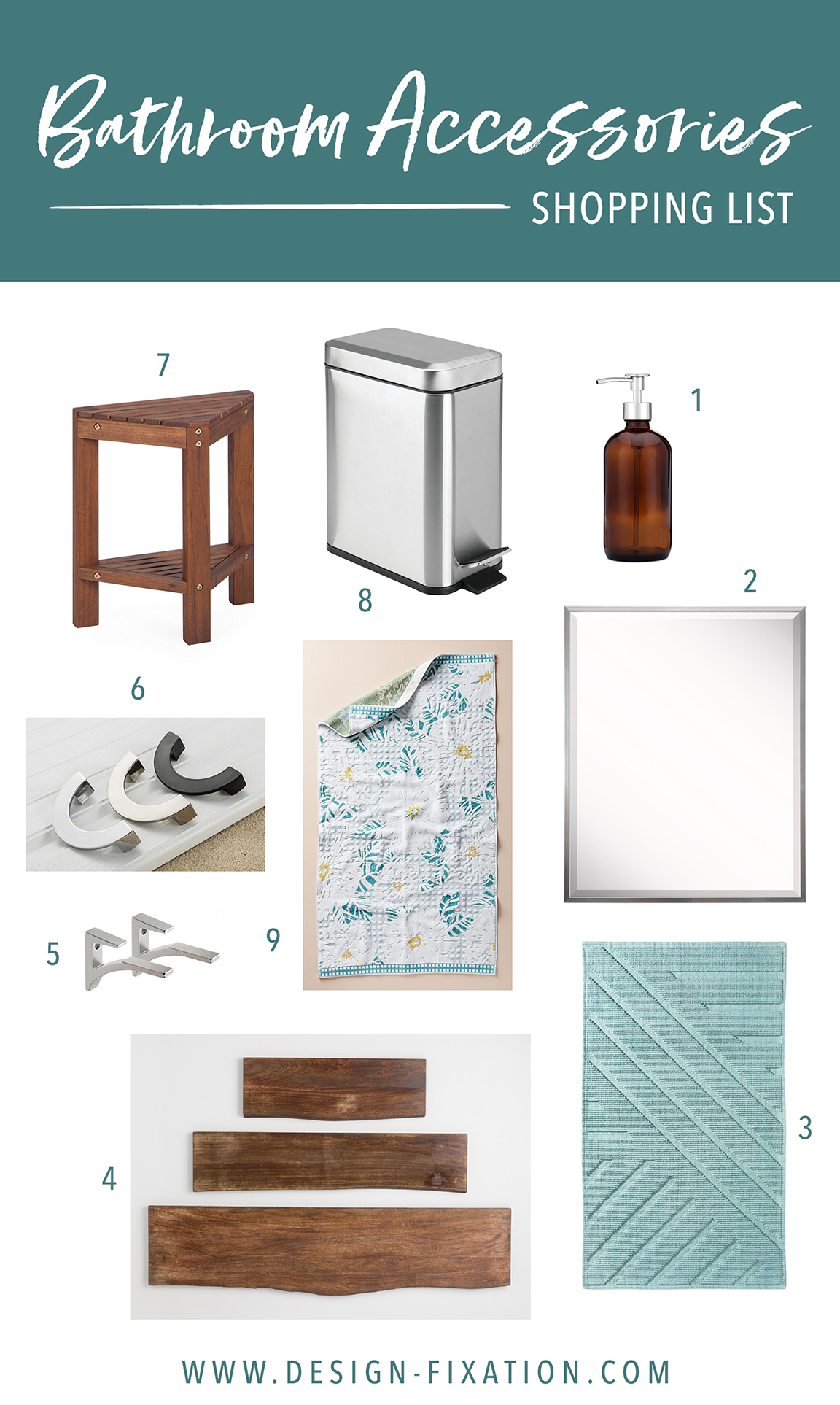 One Room Challenge Bathroom Accessories Shopping List Major