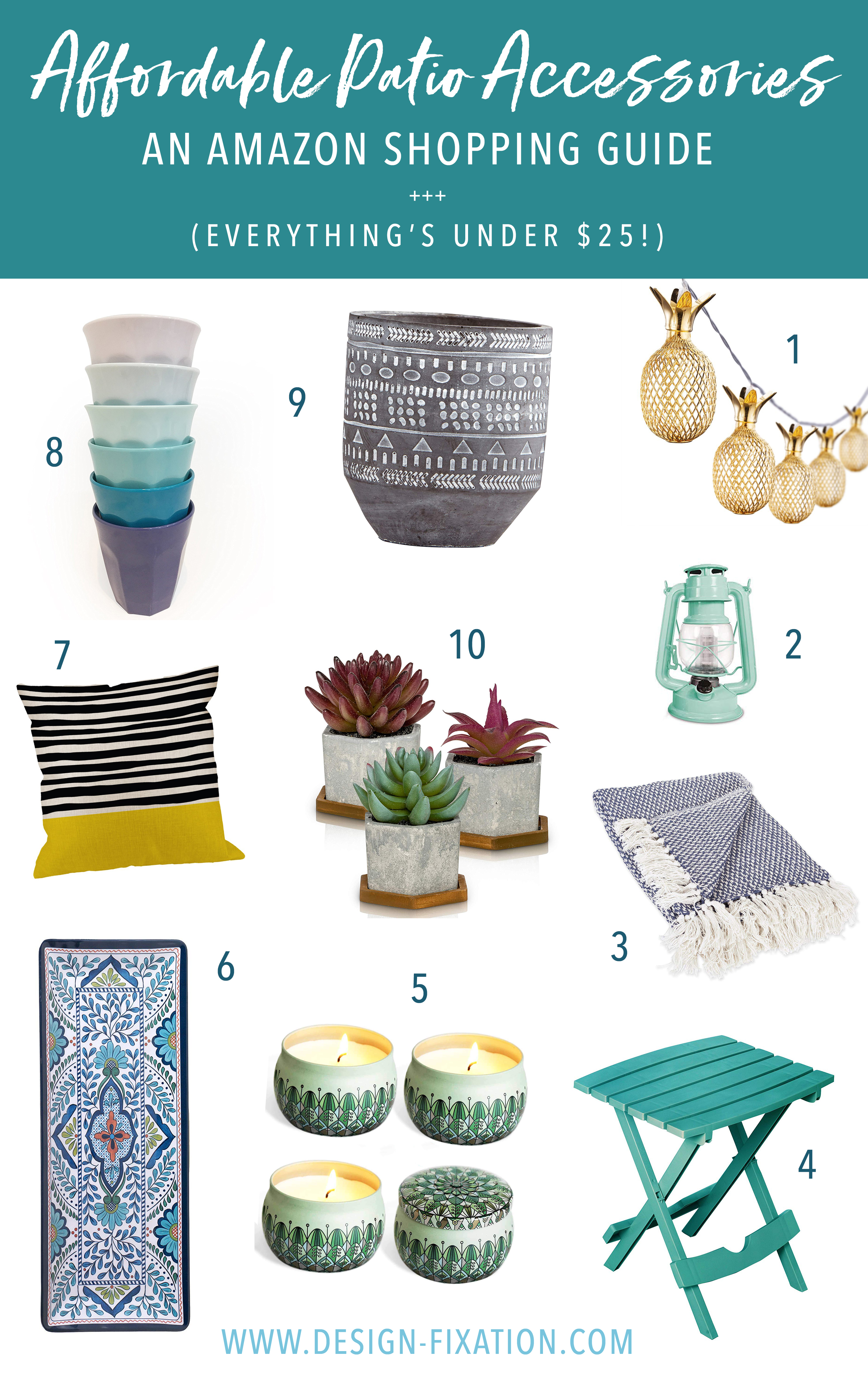 Affordable Patio Accessories: An Amazon Shopping Guide  Design