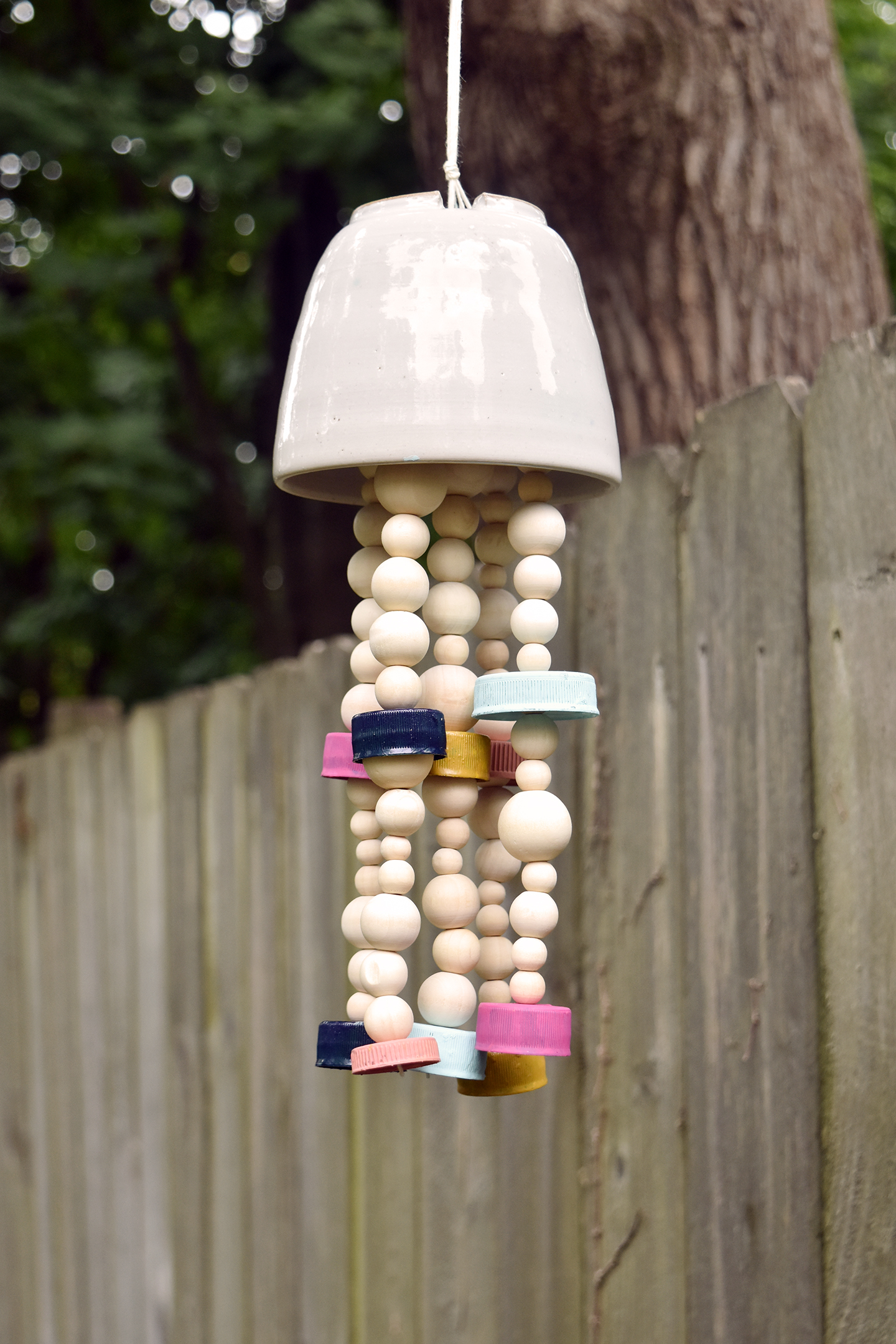 Family Summer Craft Diy Recycled Wind Chime Scavenger Hunt Design Fixation